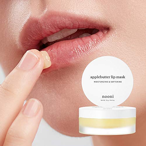 NOONI Applebutter Lip Mask 0.42 Ounces, Moisturizing lip care, Overnight lip mask, Softening formula, Protect lip care, Sleeping lip balm, Peeling lips, Lip primer, Lip scrub, Chapped skin (Best Lip Balm For Dry Peeling Lips)