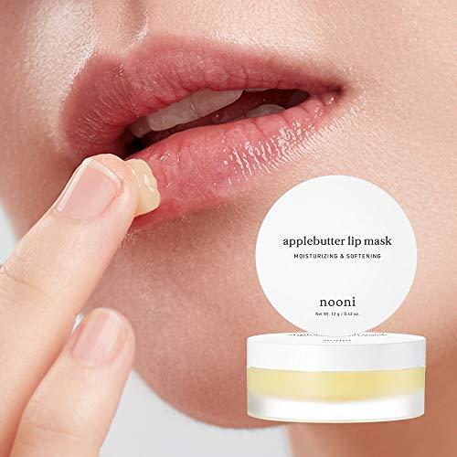 NOONI Applebutter Lip Mask 0.42 Ounces, Moisturizing lip care, Overnight lip mask, Softening formula, Protect lip care, Sleeping lip balm, Peeling lips, Lip primer, Lip scrub, Chapped skin