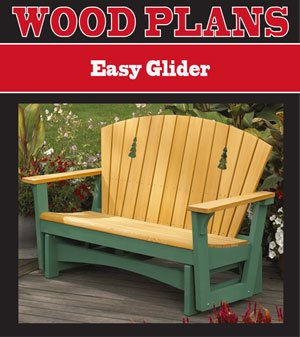 EASY GLIDER WOODWORKING PAPER PLAN PW100 - Adirondack Furniture Plans Shopping Results