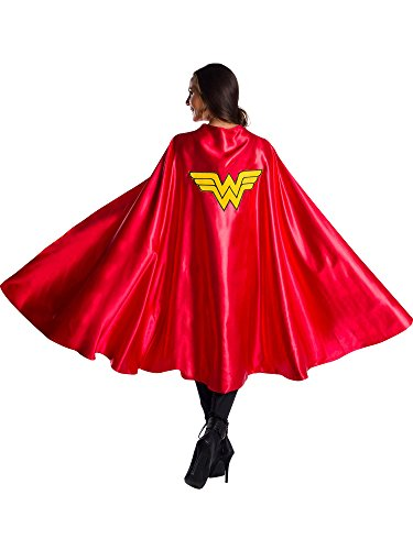 Rubie's Women's DC Comics Deluxe Wonder Woman Cape, As Shown, One -