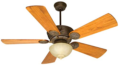 Indoor Ceiling Fans 2 Light Fixtures with Aged Bronze Textured Finish Metal Glass Material Medium 11