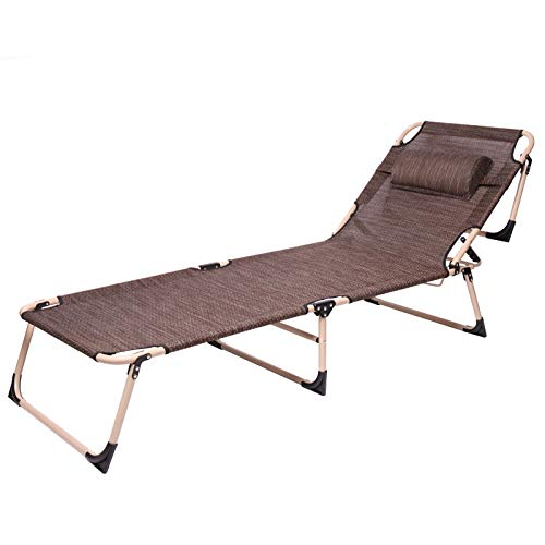 HUJBFTY Chaise Lounge Outdoor Furniture Folding Beach Chair Three Positions Sun Lounger Recline Or Lay Flat Tanning Massage (Sun Aluminium Outdoor Lounger Furniture)