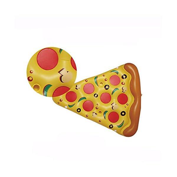 YGJT Piscina Galleggiante Pizza Gigante Slice Pool Letto Galleggiante Cuscino Gonfiabile del PVC per Lo Sport Acquatico… 3 spesavip