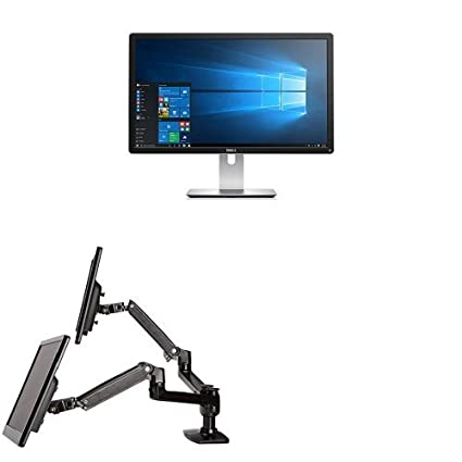 Two Dell P2415Q 24-Inch 4K LED-Lit Monitors Bundled with AmazonBasics Dual  Side-by-Side Mounting Arm