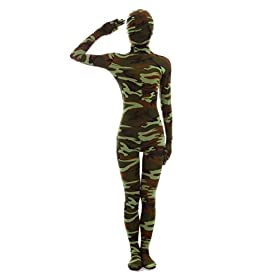 - 414lSScgilL - Halloween Dress Up Lycra Spandex Zentai Costume Full Printed Camouflage Cosplay Bodysuit