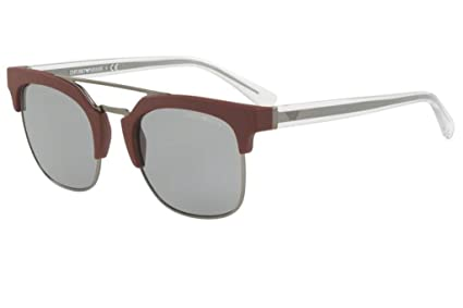 8caf6e1f766e Amazon.com  Emporio Armani EA4093 Sunglasses Matte Bordeaux w Gray ...