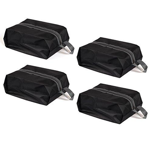 Waterproof Shoe Bag Travel Sports Gym Carry Storage Case(Black) - 2