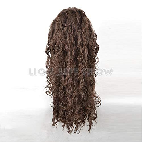 """Wig Cap DE Black Long Curly Lace Front Wig 24/"""" Harry Potter Bellatrix Lestrange"""