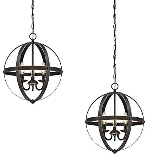 Westinghouse Stella Mira Three-Light Indoor Chandelier, Oil Rubbed Bronze Finish with Highlights 2 ()