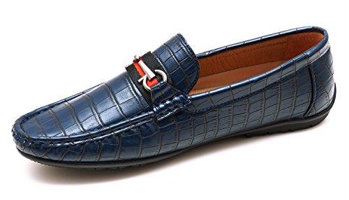 Ak Collezioni Uomo Shoes Scarpe Eleganti Man's Mocassini Casual Ecopelle In Estivi Blu qOqaxr