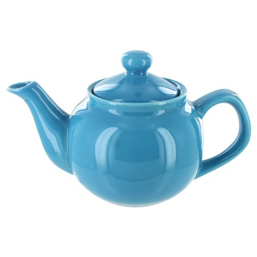 EnglishTeaStore Brand 2 Cup Teapot - Gloss Finish (Light Blue)