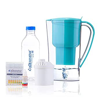 Jarra Alkanatur Drops. Alcaliniza, depura e ioniza agua. pH hasta ...
