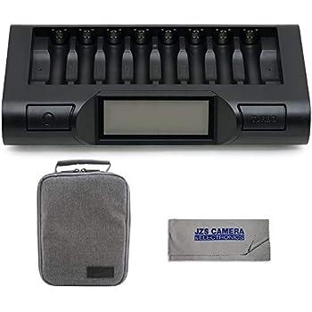 Amazon.com: Powerex Maha mh-c801d Ocho Cell 1-hr Pro AA/AAA ...