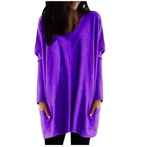 Womens Casual Long Sleeve V Neck Solid