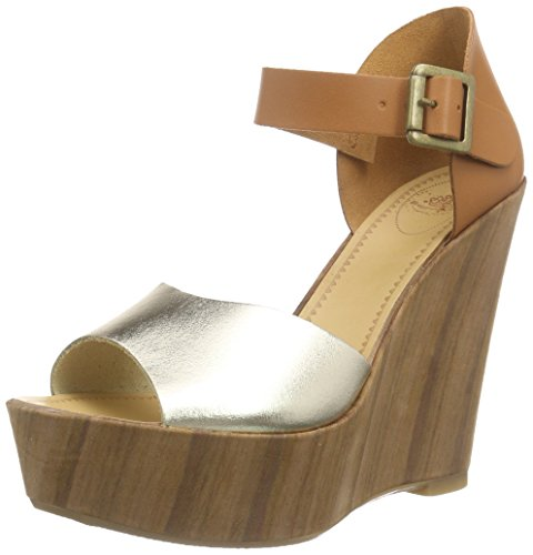 Fornarina Sandal Wedge High Color Camel/Platinum Article PEFBX9515WHMA200 New Spring Summer Collection 2016 PEFB X9515WHMA - Wedge Womens Fornarina