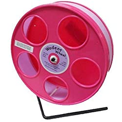 "Pink Hamster Wheel, the Wodent Wheel 'Jr.' 8"" with Lavender Track"