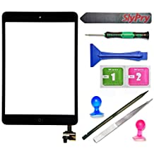 Black iPad Mini Touch Screen Digitizer Complete Assembly with IC Chip & Home Button replacement with SlyPry™ opening tool