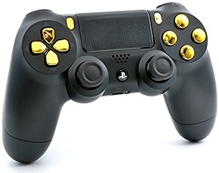 Black/Gold PS4 PRO Smart Rapid Fire Modded Controller Mods for FPS All Major Shooter Games Warzone & More (CUH-ZCT2U) 2