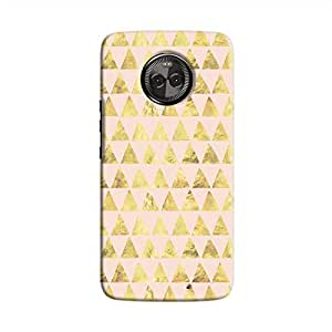 Cover It Up - Gold Pink Triangle Tile Moto X4 Hard Case