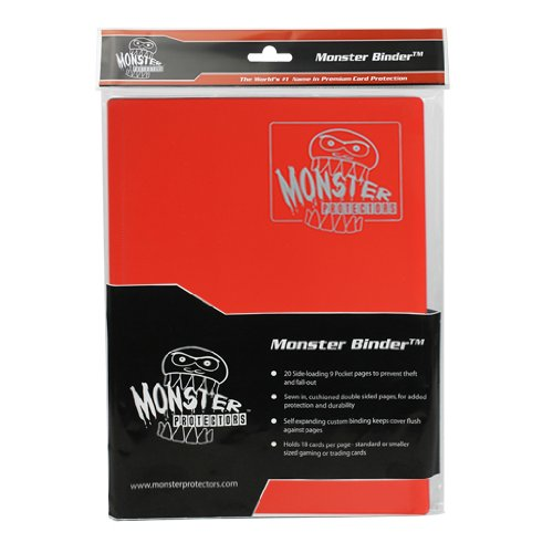(5) Red 4-Pocket Trading / Gaming Card Binder - Monster Protectors by Monster Protectors