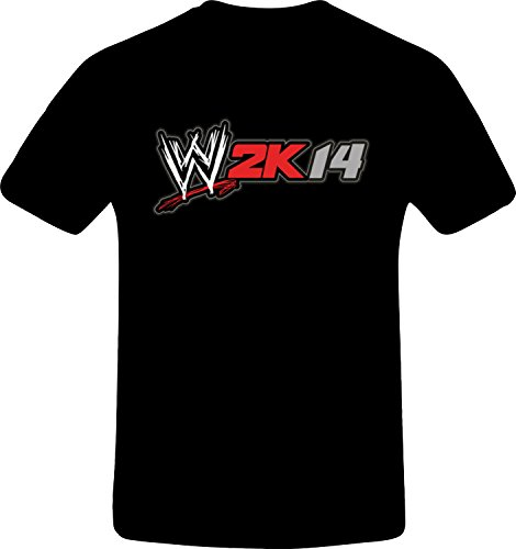 W 2K14 Wrestling - Best Quality Costum Tshirt (4XL, BLACK) (Best N64 Wrestling Games)
