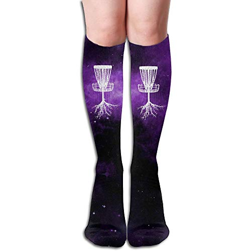 (Disc Golf Tree Roots Cotton Over The Calf Socks for Men & Women)