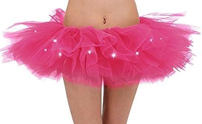 Adult's LED Light Up 5 Layered Tulle Tutu Mini Skirt