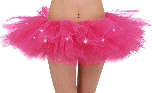 Adults LED Light Up 5 Layered Tulle Tutu Mini Skirt