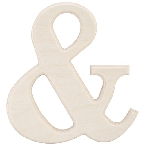 MPI Baltic Birch University Font Letters and Numbers, 5-Inch, Symbol &