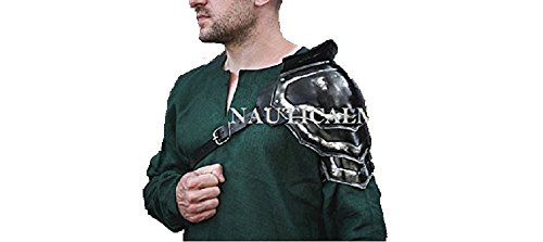 NAUTICALMART Blaсkened Steel Armor Pauldron Gladiator