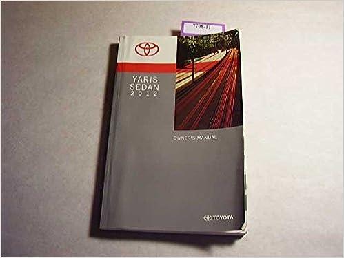 2012 toyota yaris service manual
