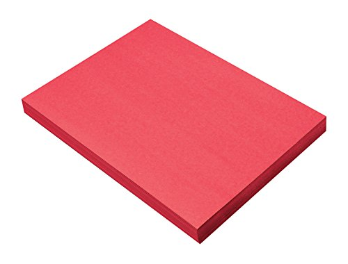 "Pacon SunWorks Construction Paper, 9"" x 12"", 100-Count, Holiday Red (9904)"
