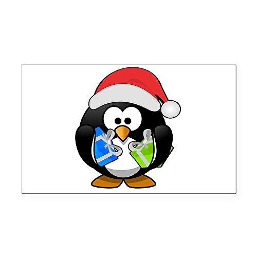 Rectangle Car Magnet Little Round Penguin - Christmas Presents