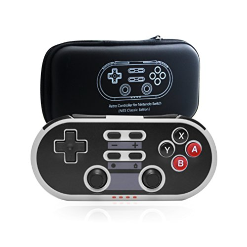 Switch Pro Controller, Wireless Controller for Nintendo Switch, Retro Game Mini Switch Controller Wireless Gamepad with Turbo, Six-Axis Dual Classic Joypad Joystick for Nintendo Switch
