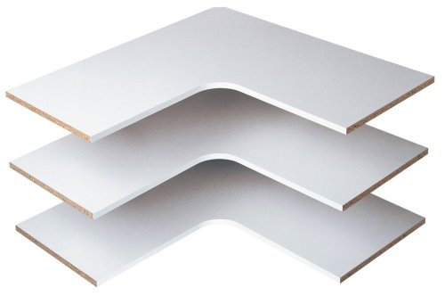 Easy Track RS3003 29-7/8-Inch Corner Shelves, White (Easy Track White)