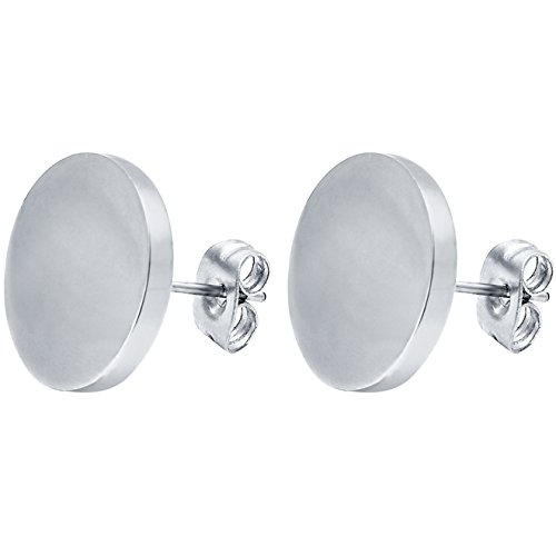 FIBO STEEL Diameter Stainless Earrings