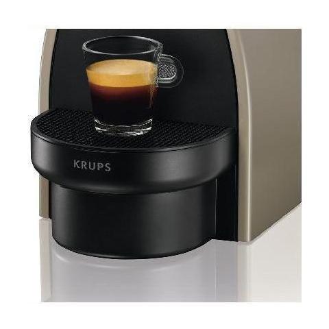 Krups xn2140 K Essenza Flow Stop máquina de café nespresso Depósito 1 litro Potencia 1260 W Color Gris Pardo: Amazon.es: Hogar