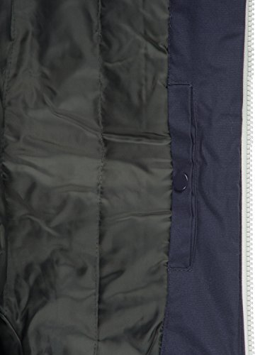 Hombre Entretiempo De Chaqueta Abrigo Insignia Para 1991 Capucha Tilden solid Con Blue pwq6S4fx
