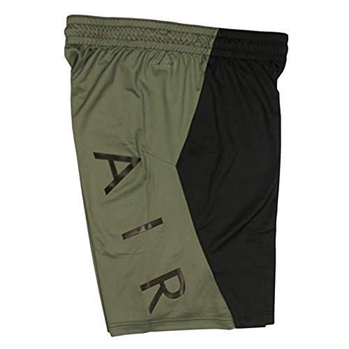 Nike Jordan Mens Flight Air Basketball Shorts (Medium, Black/Green)