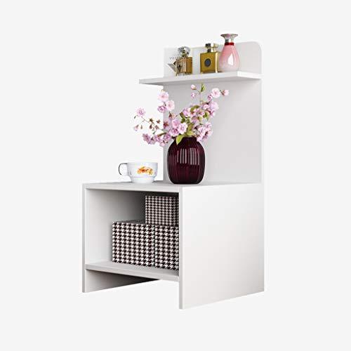 Bedside Table Drawer Locker-Bedside Table Simple Belt Shelf Side Simple Modern Bedside Cabinet White