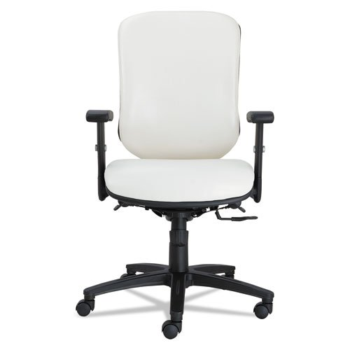 Alera EN4206 Eon Series Multifunction Mid-Back Stain Resistant Upholstery Chair, White