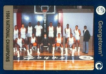 Autograph Warehouse 79952 1984 Georgetown Team National Champions Basketball Card Georgetown 1991 Collegiate Collection No .20