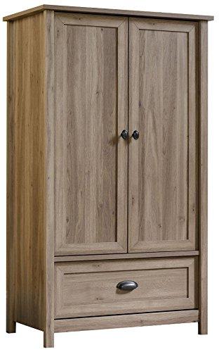 Sauder 419458 Armoire, Wardrobe, Furniture County Line, Salt Oak
