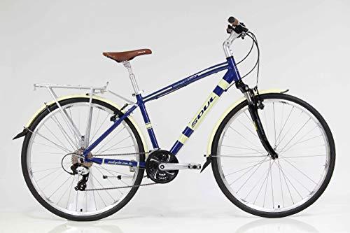 Bicicleta aro 700c urbana Soul Copenhagen Retro Shimano Tourney TX 24v - Tamanho M - Azul/Bege