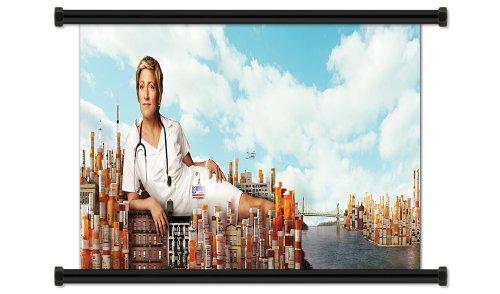 "Nurse Jackie TV Show Season 3 Fabric Wall Scroll Poster (32"" X 13"") Inches"