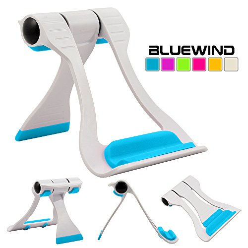 Blue Wind Multi-angle Portable Stand for Tablets 7-10 Inch Pad E-readers and Smartphones Durable Plastic Body Compatible with Apple Iphone 6 Plus 5s 5c 5 4s 4 Ipad Air Ipad Air2 Ipad Mini123 Samsung Galaxy S6 S5 S4 S3 Note 6 5 4 3 8 10 Edge Tab 2...
