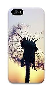 iPhone 5 5S Case Semi flower Dandelion 3D Custom iPhone 5 5S Case Cover