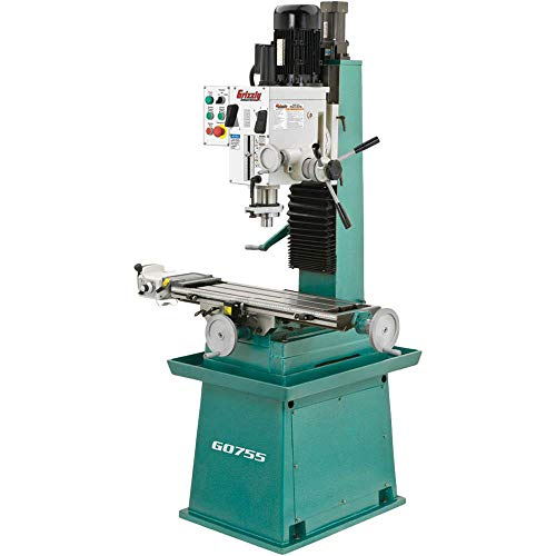 Grizzly G0755 Heavy-Duty Mill/Drill with Stand and Power Feed
