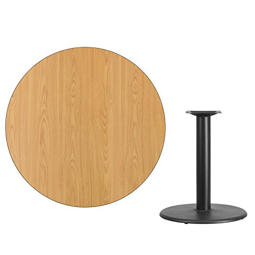 """Flash Furniture 42"""" Round Natural Laminate Table Top with 24"""" Round Table Height Base"""