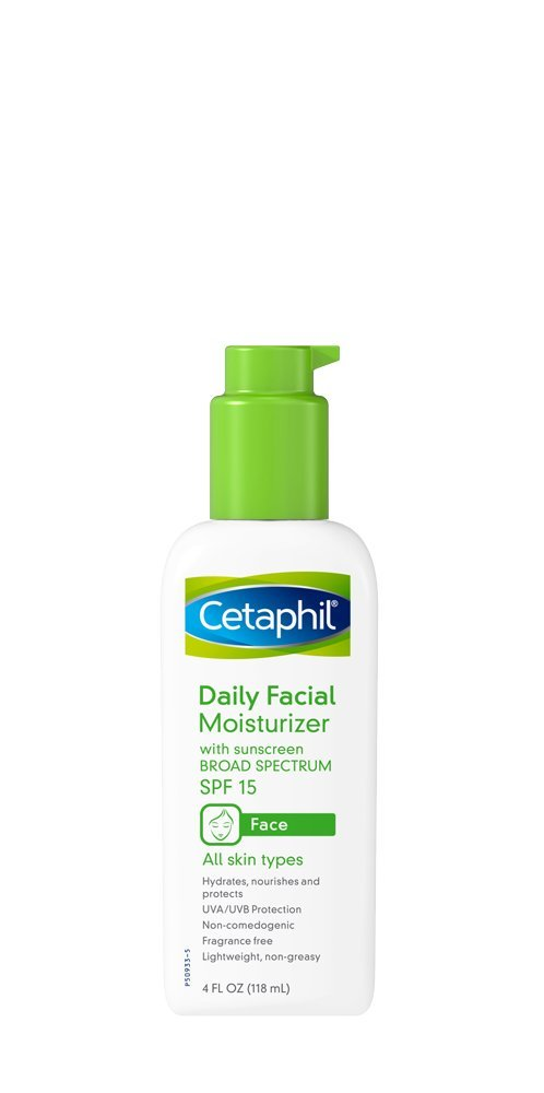 Cetaphil Fragrance Free Daily Facial Moisturizer, SPF 15, 4 Ounce by Cetaphil